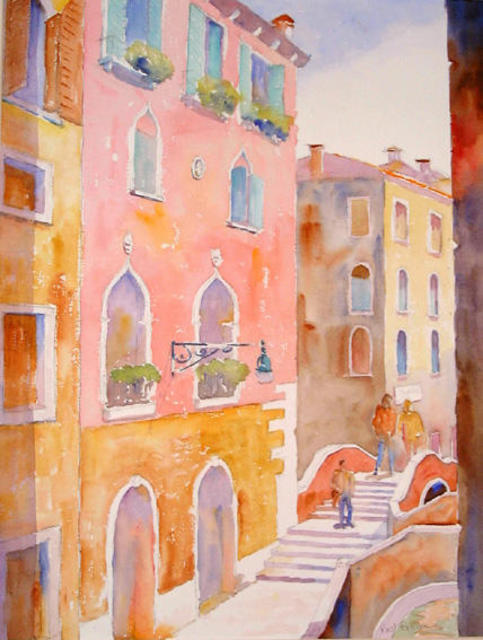 Roderick Brown  'Colour Of Morning Venice', created in 2003, Original Watercolor.