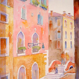 Roderick Brown Artwork Colour of Morning Venice, 2003 Watercolor, Cityscape