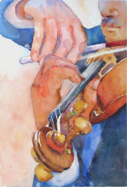 Roderick Brown  'Hands At Play 1', created in 2011, Original Watercolor.