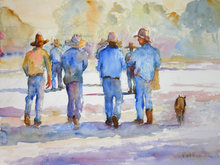 - artwork Hats_on_Parade-1220770840.jpg - 2008, Watercolor, Figurative