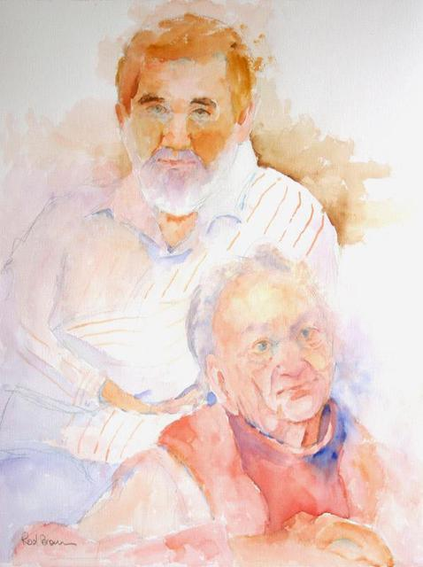 Roderick Brown  'Mother And Son', created in 2004, Original Watercolor.