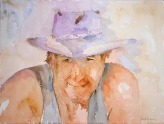 Artist: Roderick Brown - Title: Outback Rider - Medium: Watercolor - Year: 2004