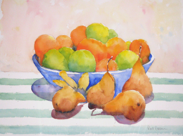 Roderick Brown  'Pears To The Front', created in 2009, Original Watercolor.