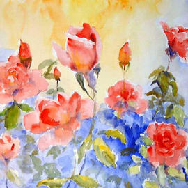 Roderick Brown Artwork Roses in Bloom, 2003 Watercolor,