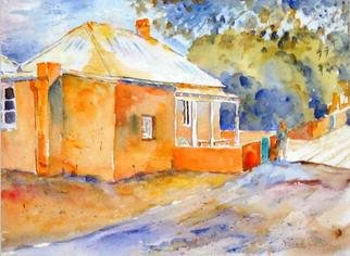 Roderick Brown Artwork Rottnest Cottage, 2003 Watercolor, Landscape