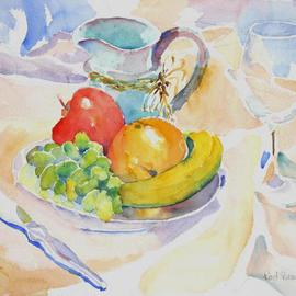 Still Life with Grapes  By Roderick Brown