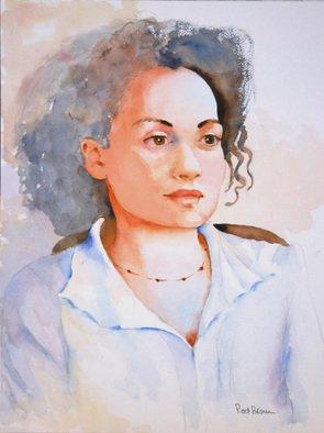 Artist: Roderick Brown - Title: Waitress at La Griglia - Medium: Watercolor - Year: 2008