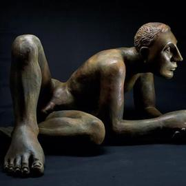 Mavis Mcclure Artwork Nilo, 2001 Bronze Sculpture, Figurative