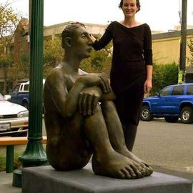 Mavis Mcclure Artwork Pablo, 1999 Bronze Sculpture, Figurative