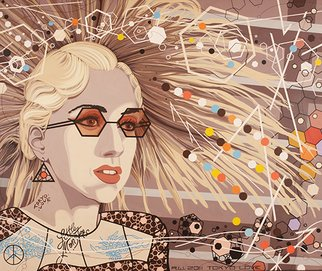 Roger Williams: 'LADY GAGA', 2013 Acrylic Painting, Abstract.