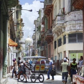 Rolando Angel Artwork C09 005  El fumador, 2009 Color Photograph, Cityscape