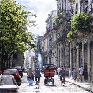 Color Photograph by Rolando Angel titled: C09 013  Calles Brasil y Bernaza, 2009
