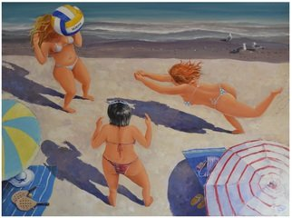 Acrylic Painting by Roman Markov titled: On the beach, 2013