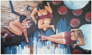 Acrylic Painting by Roman Markov titled: Three women, 2013