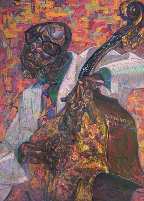 Roman Nogin  'Ron Carter', created in 2020, Original Painting Oil.
