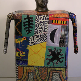 Ron Allen: 'Africa', 2009 Mixed Media Sculpture, Abstract Figurative. Artist Description:   cement, collaged photographs...