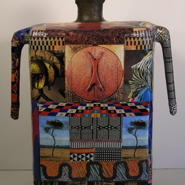 Ron Allen: 'Africa  back view', 2009 Mixed Media Sculpture, Abstract Figurative.