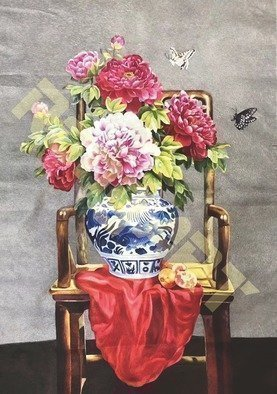 Candice Rongyu: 'still life', 2018 Crafts, Still Life. Following is reference price, the actual price will float per ex- rateIntroduction of Craft Hand- made Embroidery, It is a more than 2000 years traditional handicraft combining art and craftFeature of handicraft The procedure of making is embroider pattern image with various thinness color silk threads on high ...