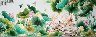 Candice Rongyu: 'traditional painting', 2020 Crafts, Landscape. Hand- made embroidery artwork...