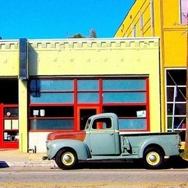 Ronnie Caplan Artwork Abbott Kinney Truck, 2014 Color Photograph, Automotive