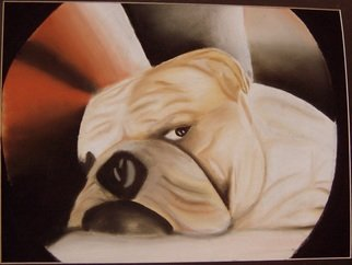 Animals Pastel by Ronny Nunez titled: Dog, created in 2007