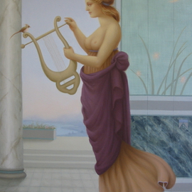 Ronald Weisberg: ' A lyre', 2001 Oil Painting, Representational.