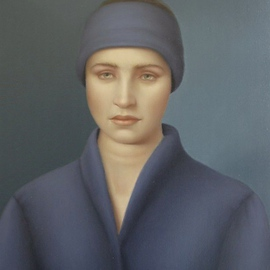 Ronald Weisberg: 'blue wrap', 2003 Oil Painting, Representational.