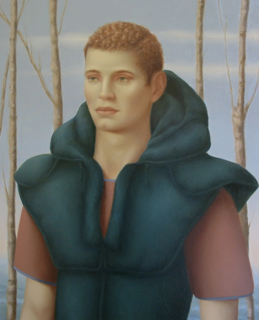 Ronald Weisberg  'Bry', created in 2003, Original Painting Tempera.