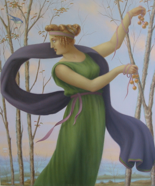 Ronald Weisberg  'Morning Dance', created in 2005, Original Painting Tempera.