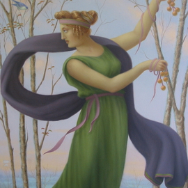 Ronald Weisberg: 'morning dance', 2005 Oil Painting, Representational.