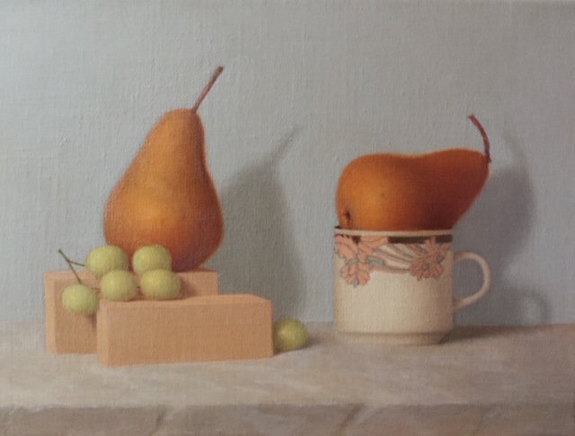 Ronald Weisberg  'Pear 2', created in 2017, Original Painting Tempera.