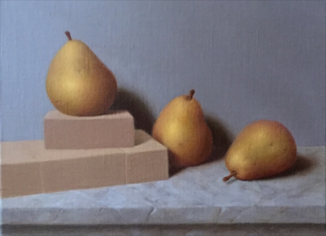 Ronald Weisberg: pear 3, 2017 Oil Painting