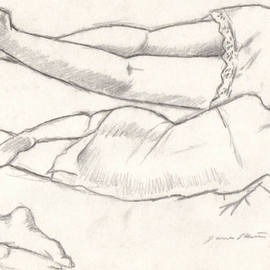 Study of Maria Sleeping By James Miller