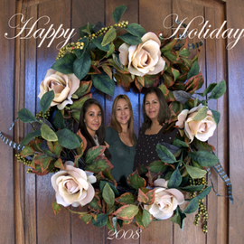 Rosalinda Alejos: 'Happy Holidays', 2008 Other Photography, Family. Artist Description:  Digital Photomontage consisting of three ladies encircled by a wreath which is placed at the front entrance to a home.  ...
