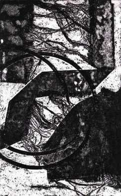 Rosalyn M. Gaier Artwork Arcs and Angles, 2010 Etching, Abstract