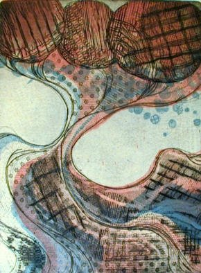 Rosalyn M. Gaier Artwork Dress for the Dance, 2000 Etching, Abstract