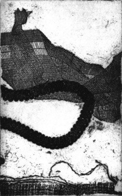 Rosalyn M. Gaier Artwork New Ground III, 2008 Etching, Abstract
