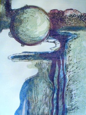 Rosalyn M. Gaier Artwork Other Worldly, 2001 Etching, Abstract