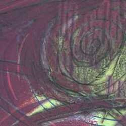 , Painting The Roses Red, Abstract, $158