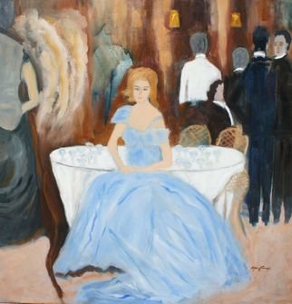 Artist: Rosa Alfaro Carozzi - Title: The Metropolitan Gala  - Medium: Oil Painting - Year: 2015