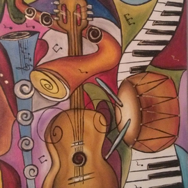 Rosica Simeonova Artwork piano, 2012 Oil Painting, Abstract