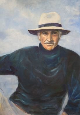 Rosa D Alessio: 'portrait of Sean', 2012 Oil Painting, People.    tree, oil on canvas, oil, canvas, portrait, landscape, watercolor, trees, countryside, painting, wall hanging, horse, cowgirl, monta da lavoro, buttero   ...