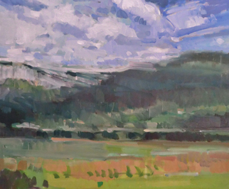 Artist: Jerry Ross - Title: Coburg Hills Abstract Landscape - Medium: Oil Painting - Year: 2012