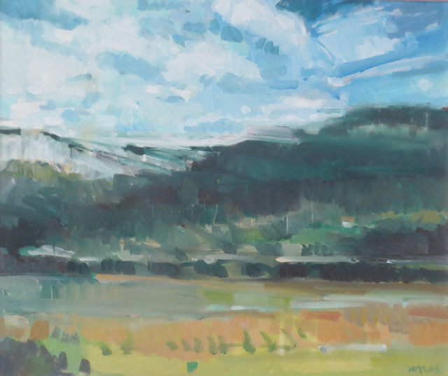 Jerry Ross  'Coburg Hills Veduta', created in 2016, Original Painting Oil.