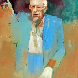 Jerry Ross: 'Feel the Bern', 2016 Oil Painting, Portrait. Artist Description:  A portrait of Bernie Sanders, Democratic candidate for president in 2016. Exhibited at Brent- Wesley Gallery, Las Vegas. ...
