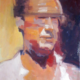Jerry Ross Artwork Portrait of Carlo Bianchi, 2016 Oil Painting, Portrait