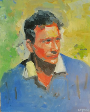 Artist: Jerry Ross - Title: Portrait of the Artist as a Young Man - Medium: Oil Painting - Year: 2011