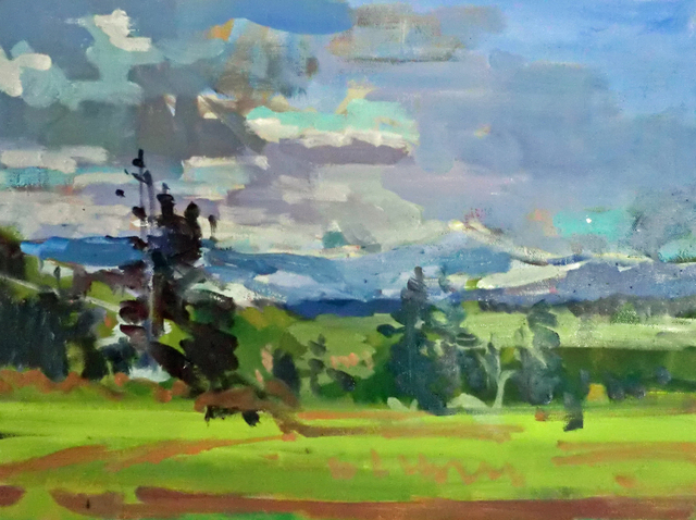 Jerry Ross: Ridgetop View, 2012 Oil Painting