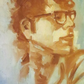Jerry Ross Artwork The Young Bernie, 2016 Oil Painting, Portrait