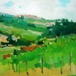 Umbrian Countryside Veduta By Jerry Ross
